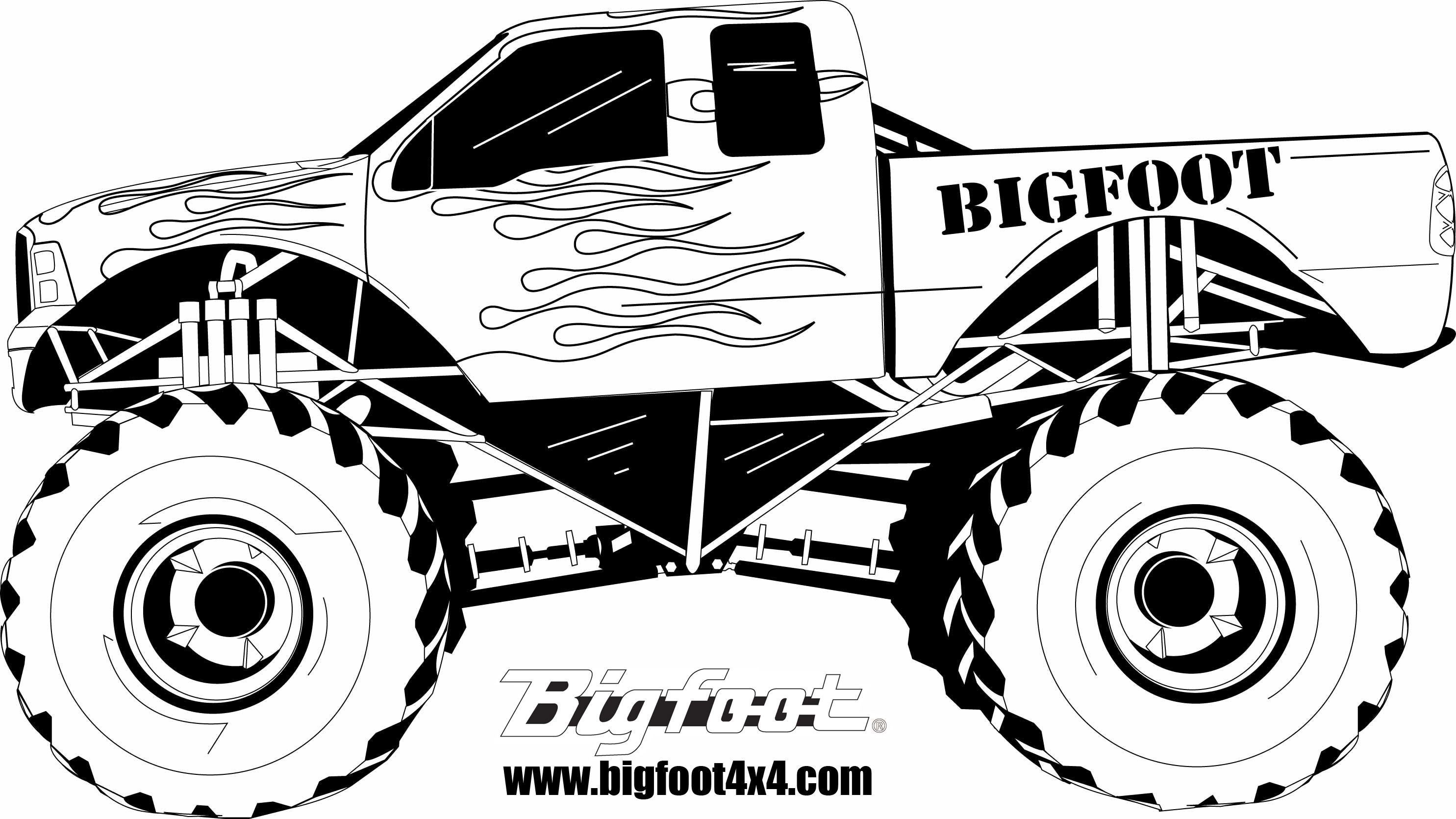how to draw monster truck BIGFOOT Kids The Place for