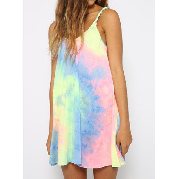 Mini Spaghetti Strap Ombre Dress