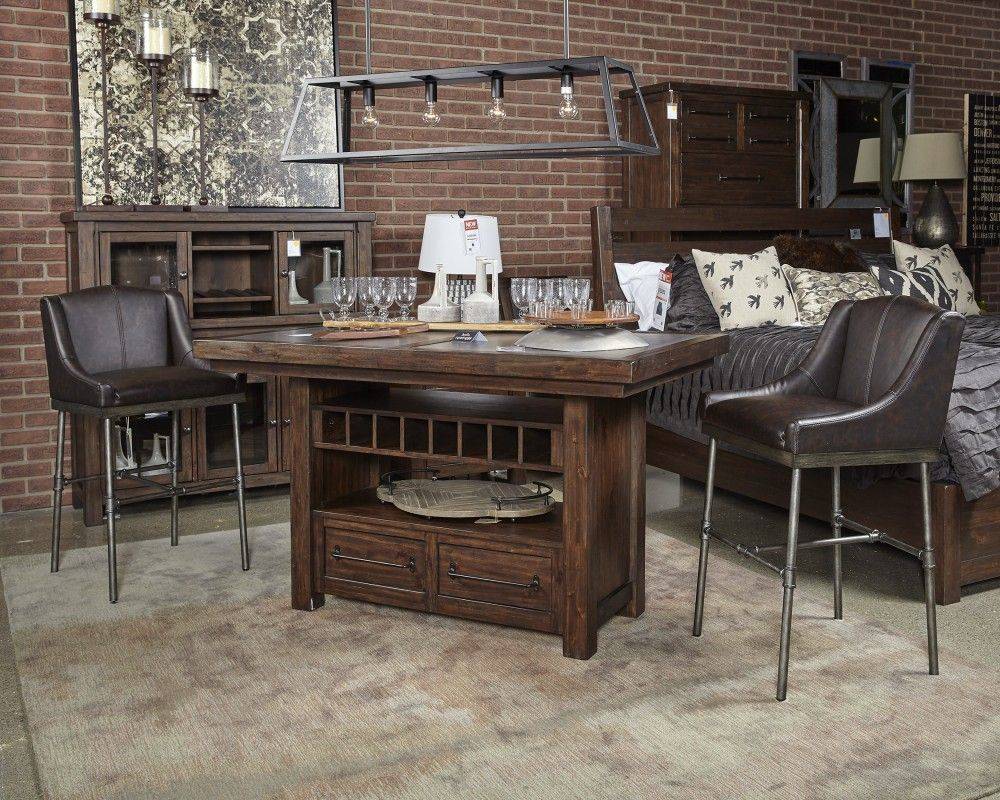 Starmore Brown Upholstered Barstool 2 Cn Bar