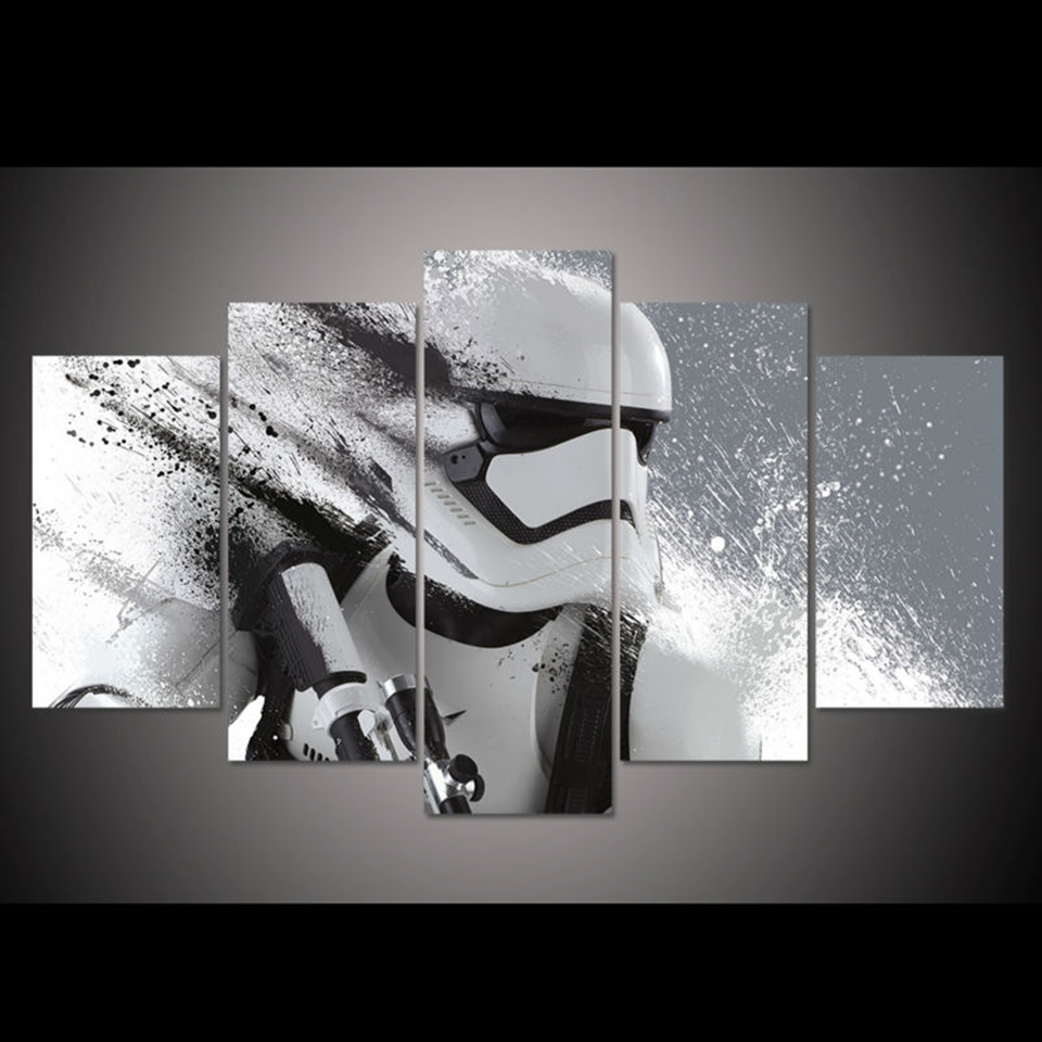 Star Wars Na Prezent Obraz Na Plotnie Rama Rozm 2 Canvas Art Wall Decor 5 Piece Canvas Art Customized Canvas Art