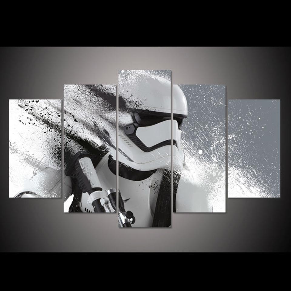 Star Wars Na Prezent Obraz Na Plotnie Rama Rozm 2 Canvas Art Wall Decor 5 Piece Canvas Art Customized Canvas Art
