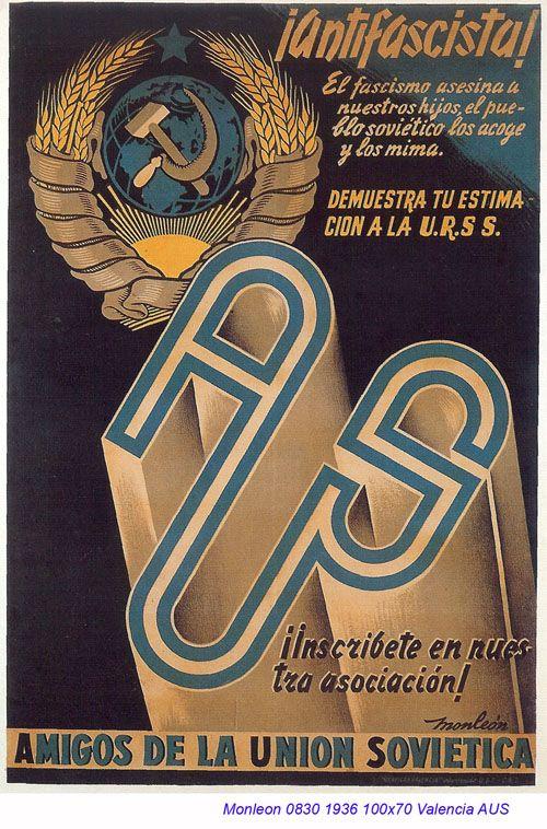 Spain - 1936. - GC - poster - autor: Monleon - AUS