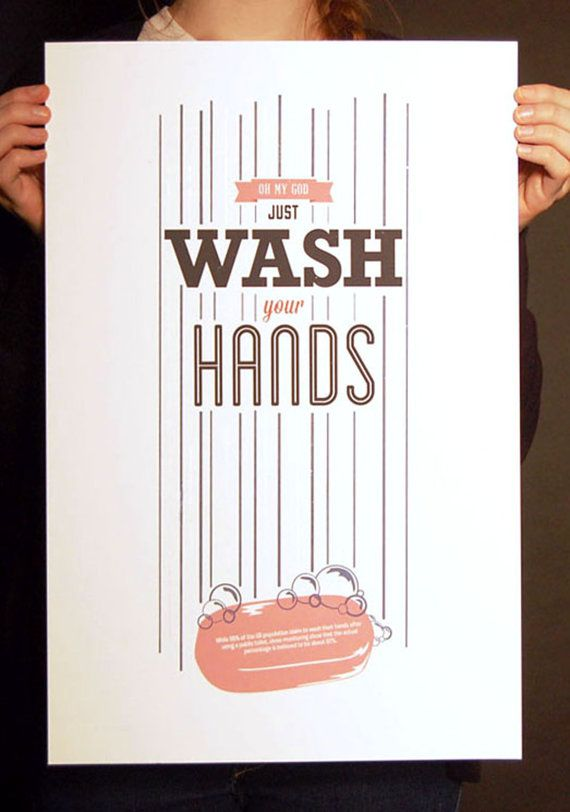 Oh My God, Just Wash Your Hands, poster
