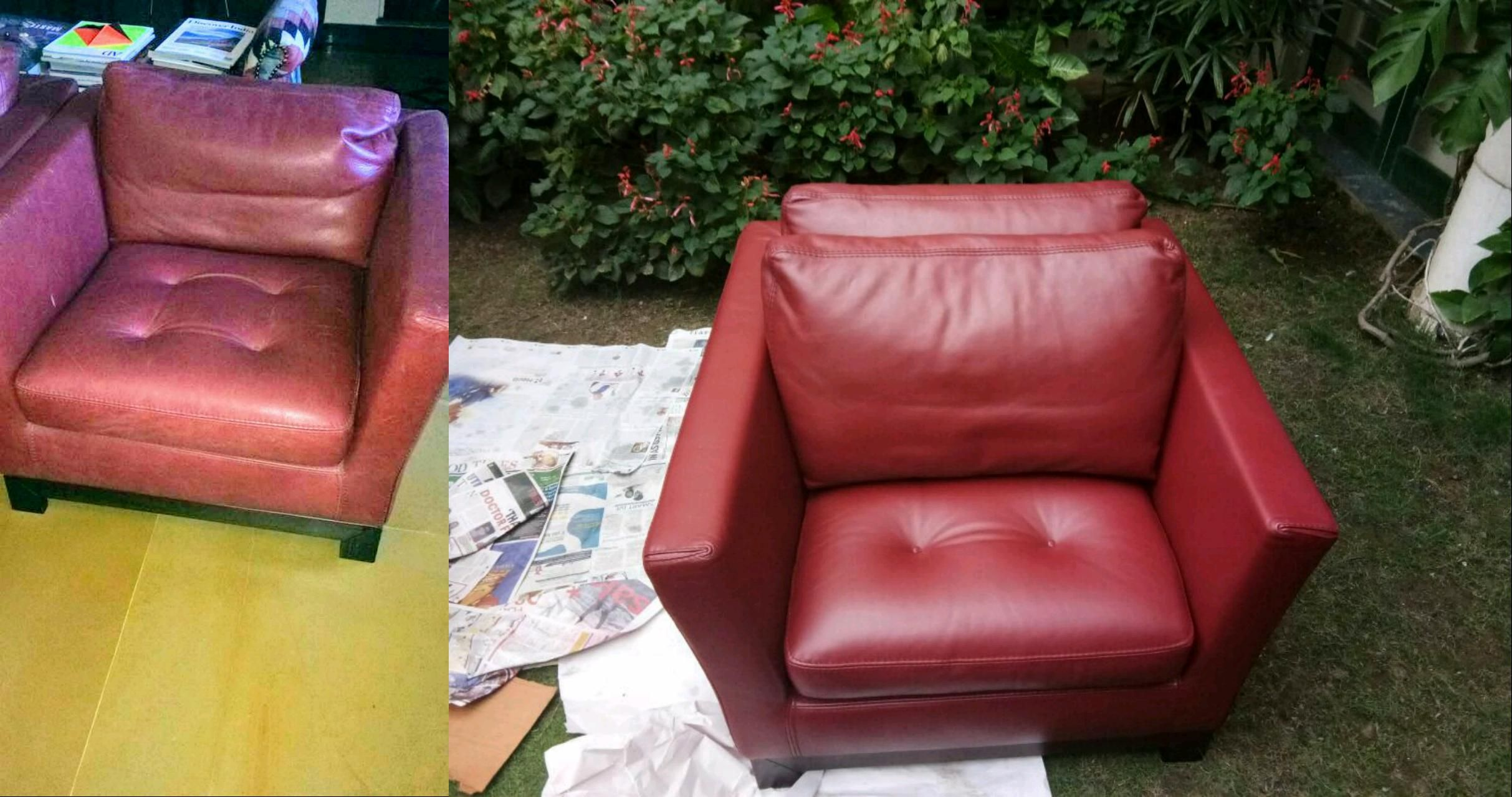 Leather Sofa Colour Restoration Sofa Cleaning
