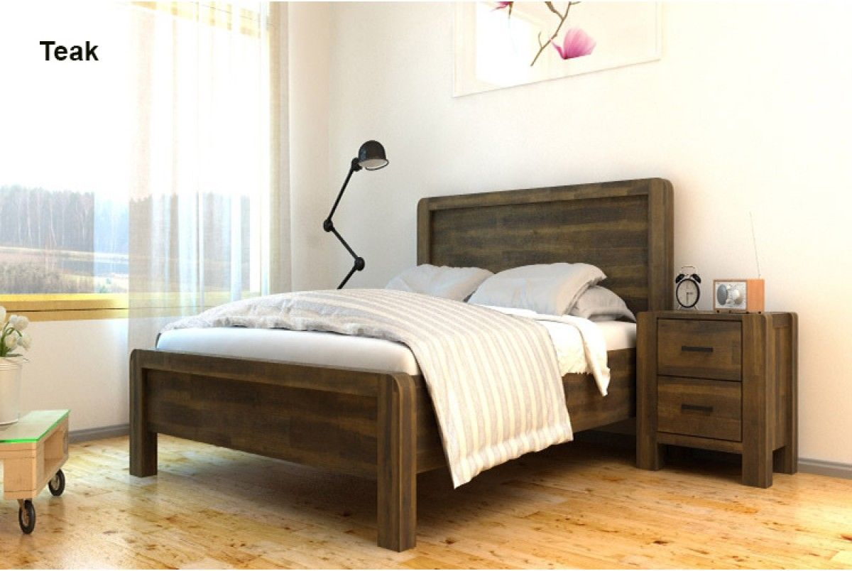 Chester Solid Handcrafted Acacia Wooden Bed- Teak | Chester solid ...