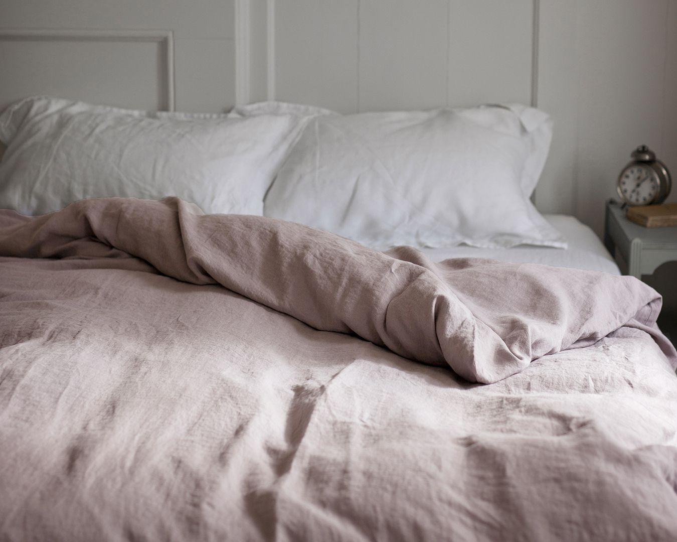 Charming Dusty Pink Linen Duvet Cover Sweetgalas