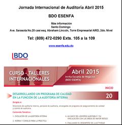 Jornada Internacional de Auditoría abril 2015. -Publicidad