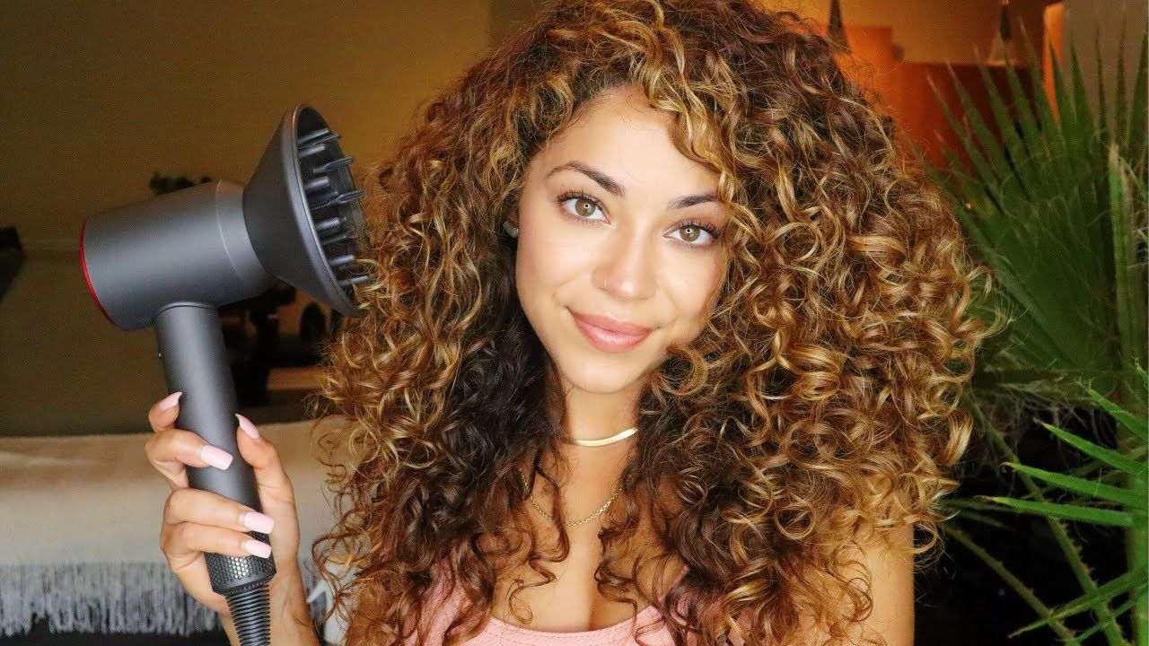 How I Diffuse Curly Hair Curly Hair Styles Hair Diffuser Blow Dry Curly Hair
