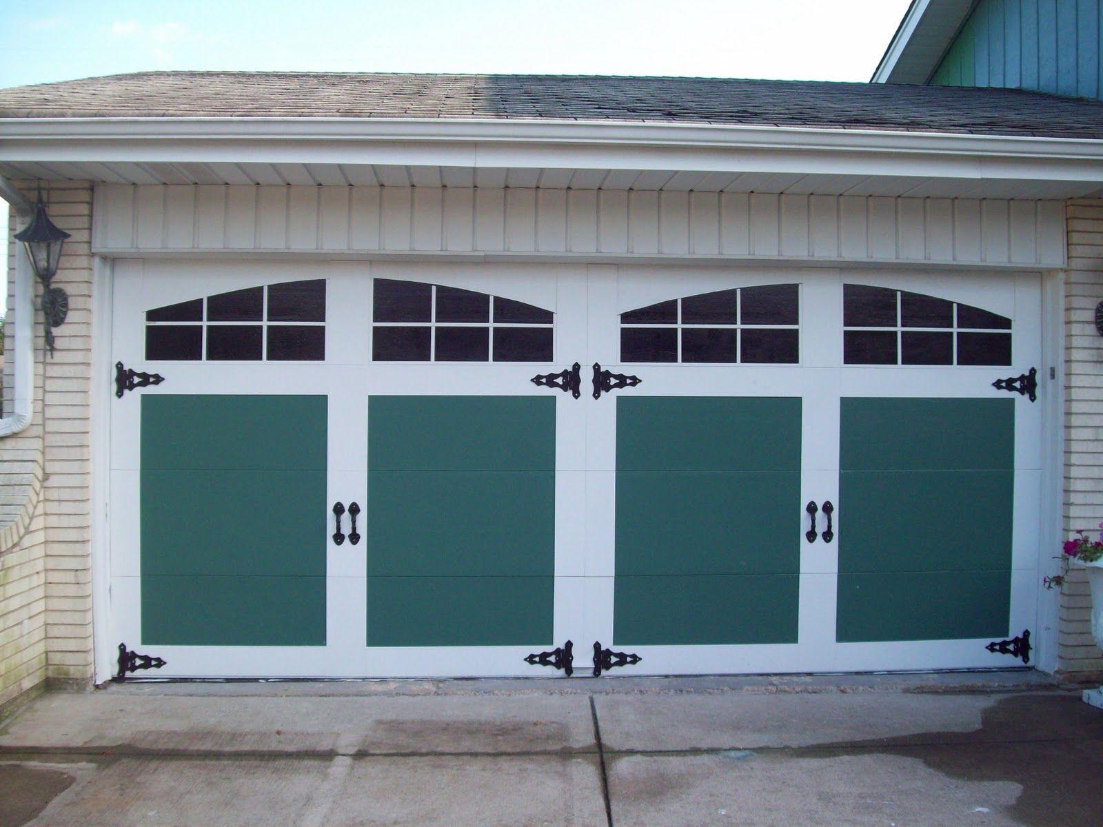 Painted And Raised Panel Garage Door Facelift General Splendour Garage Doors Garage Door Windows Carriage Garage Doors
