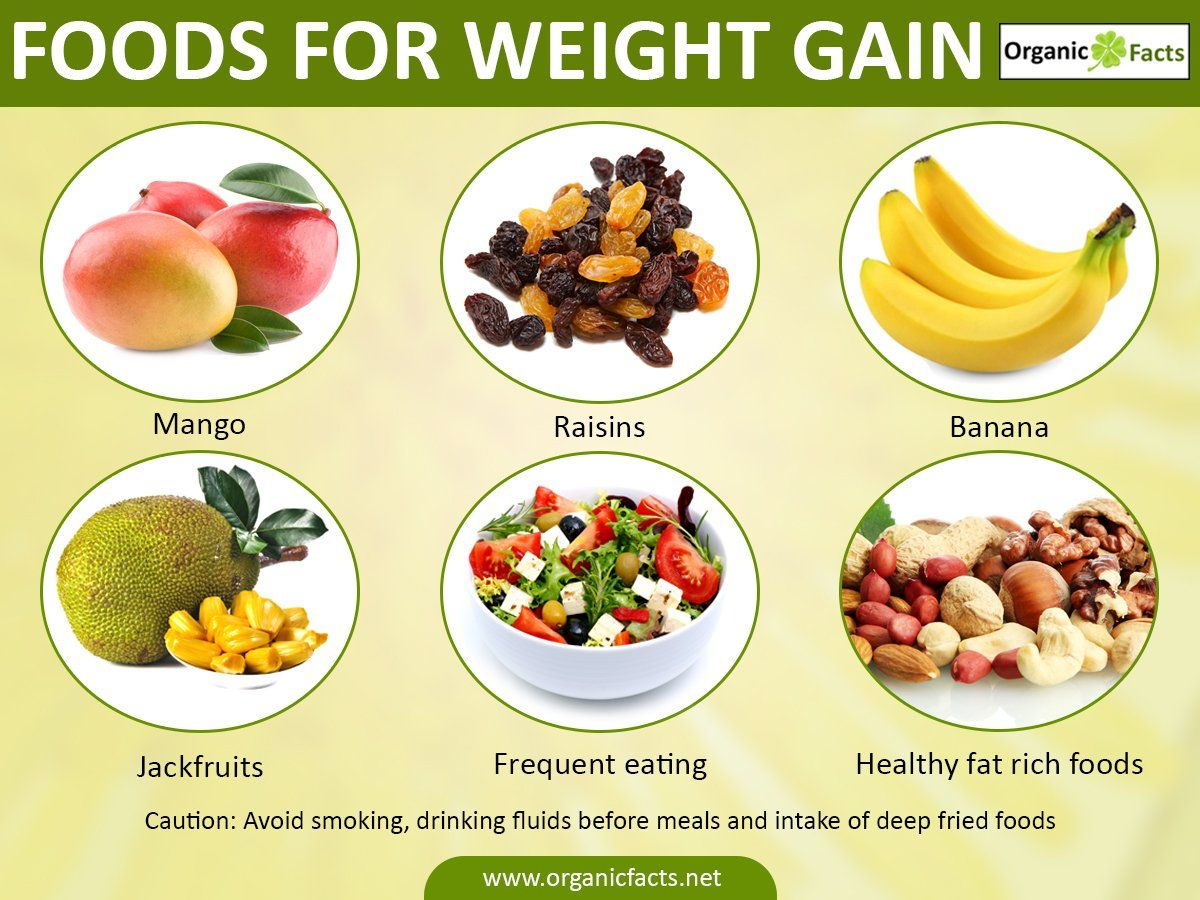Some of the best foods for healthy weight gain include