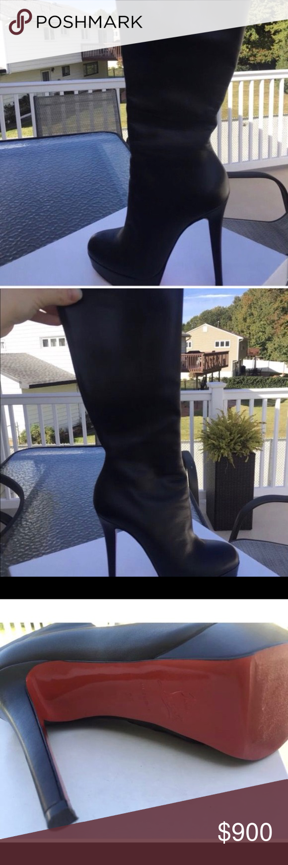 reputable site cb16f 2b176 Christian Louboutin botalili tall boot size 36 Selling my ...