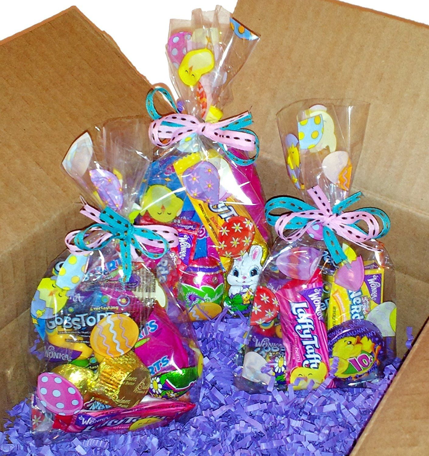 12 Easter Goodie Bags Treat Filled Chocolate And Brand