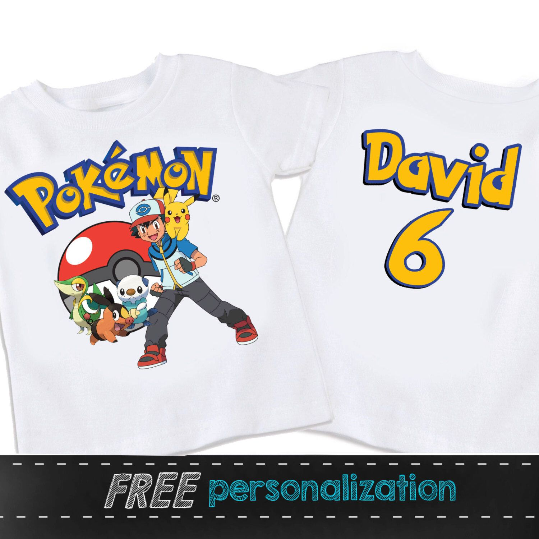 Design your own t-shirt birthday party - Pokemon Personalized Birthday Shirt With Back Print Tshirt Shirt By Swingnmonkeez On Etsy Https