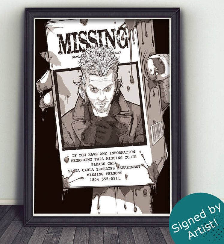 Lost Boys Movie Print Limited Edition Poster Signed By Artist Movie Prints Lost Boys Movie Lost Boys