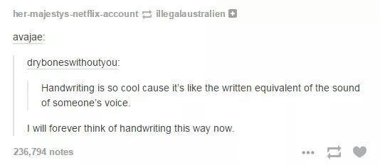 The handwritten equivalent <3