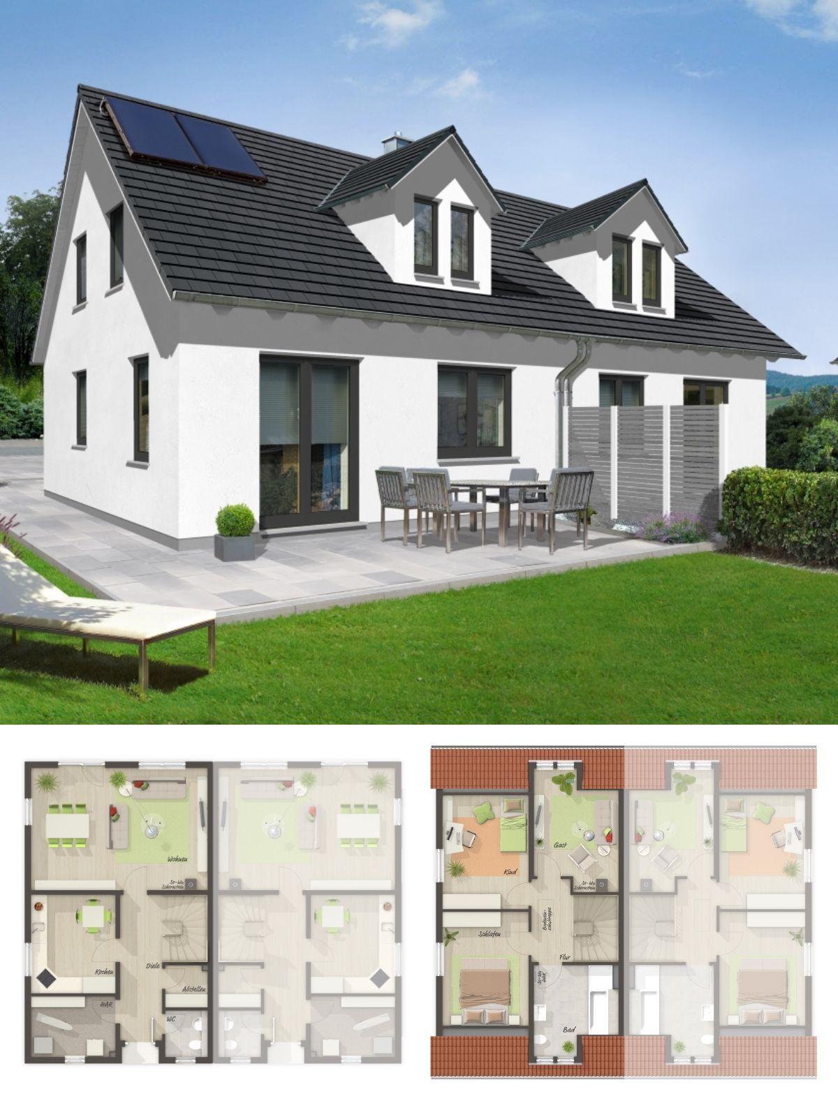 Moderne Doppelhaushälfte Mit Satteldach Architektur Gaube