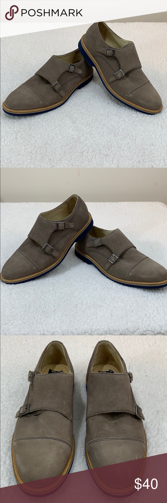 ee0b25fa621 Nordstrom 1901 Monk Strap Casual Shoes Size 10 Men s Nordstrom 1901 Monk  Strap Casual Suede Shoes