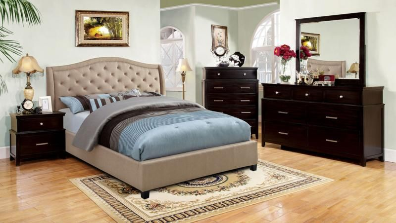Espresso Camelback Bed   Just Like Home Furniture