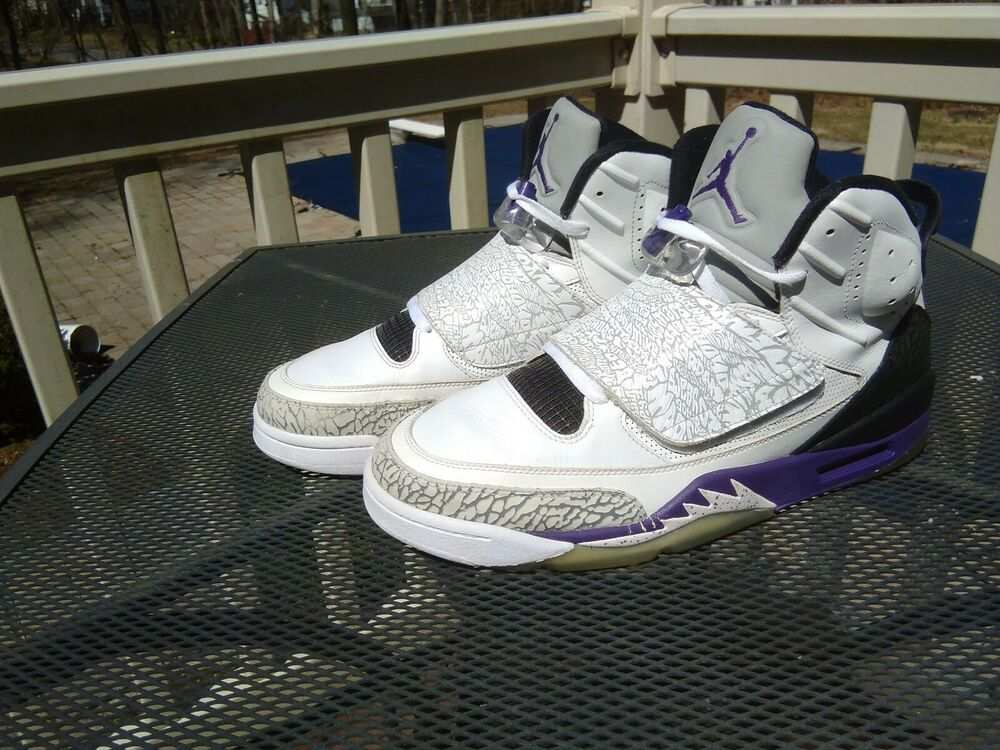 the best attitude 68231 86744 Jordan Son Of Mars 512245-106 White Club Purple Cool Grey Size 11