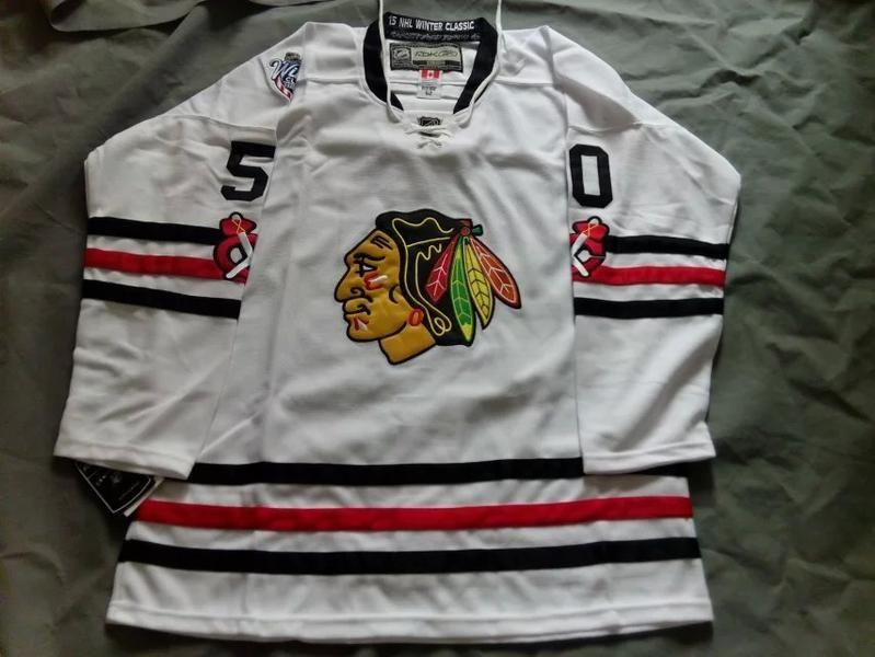 deeb973fb Chicago Blackhawks  50 Corey Crawford White winter classic jersey ...