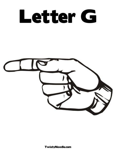 This is the correct hand formation for letter G. This is