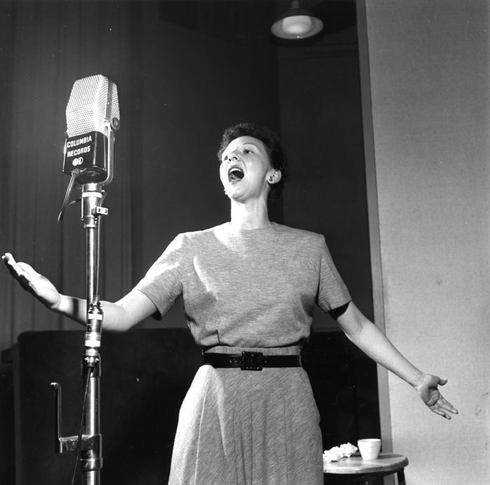 Mary Martin in a recording session for South Pacific - Original Broadway Cast Recording 1949 | The Official Masterworks Broadway Site