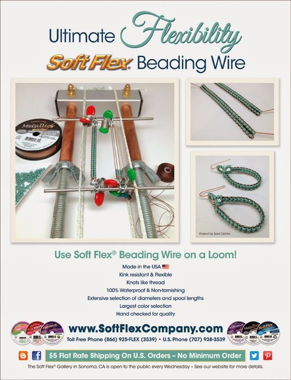Free Project Instructions  Use Soft Flex Beading Wire On A Mirrix Loom To Make A Pair Of
