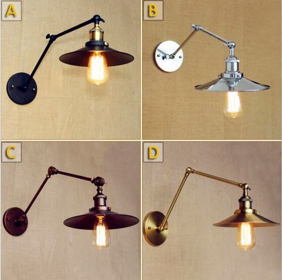 Adjustable swing long arm wall light fixtures living room edison adjustable swing long arm wall light fixtures living room edison retro vintage wall lamp industiral sconce aloadofball Images