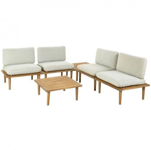 Cuba Loungeset Light Grey.Temple Webster 4 Seater Cuba Modular Outdoor Lounge Table Set