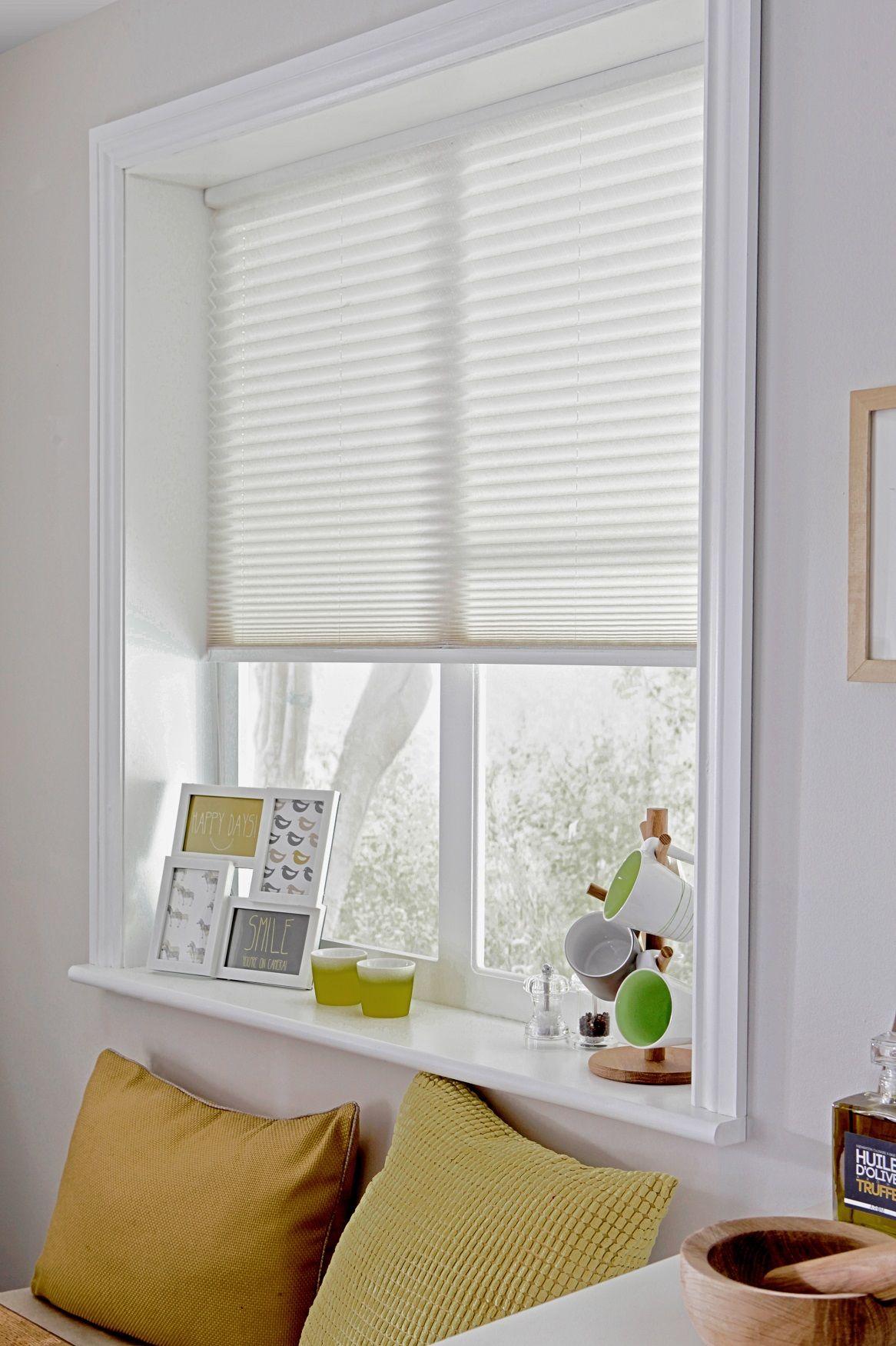 Style Studio Ribbons White Pleated Blind. Living room blinds ...
