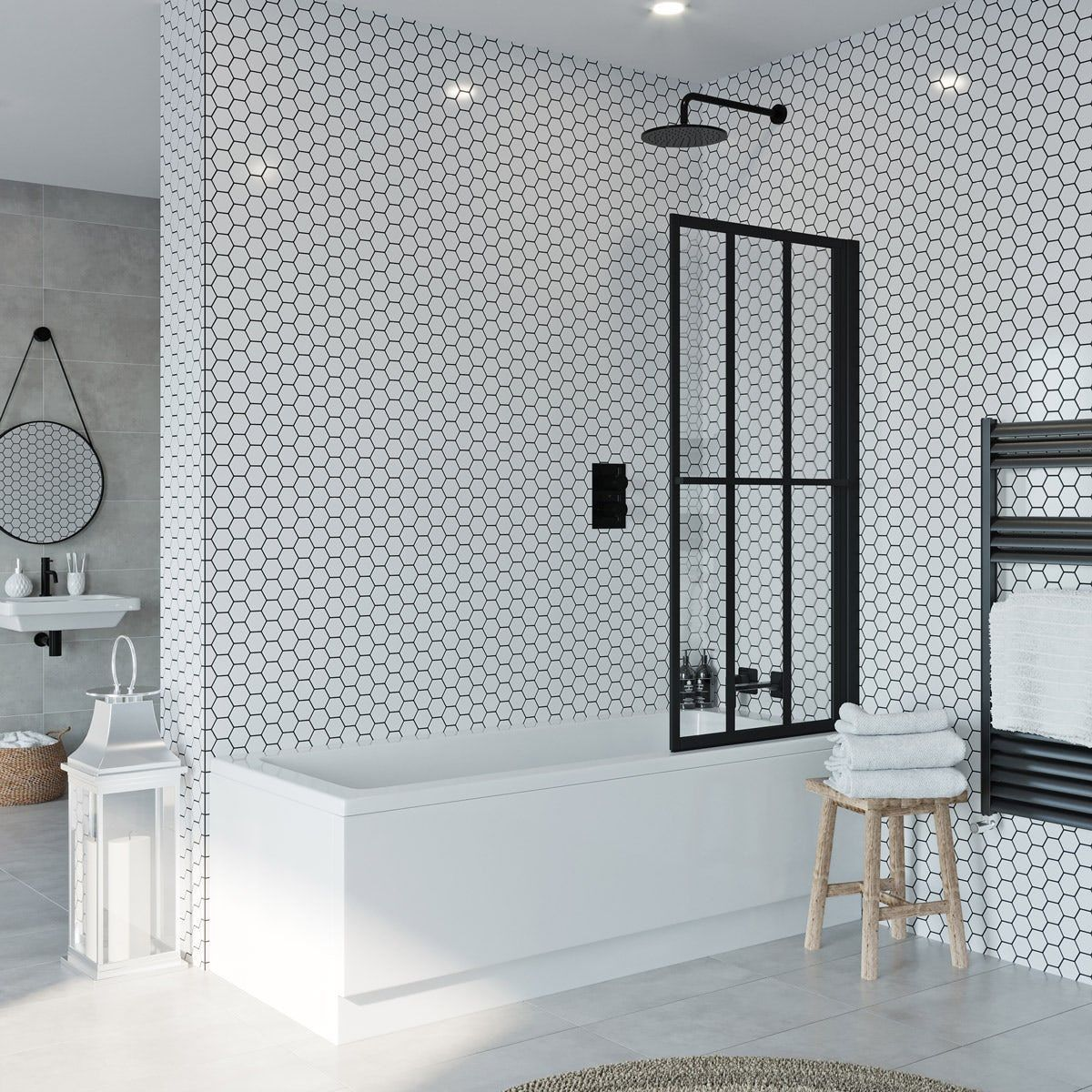Click Here To Read More About The Jacuzzi Loft Black Framed Rising Shower Bath Screen Victoriaplum Com Jacuz With Images Bath Shower Screens Bath Screens Shower Screen