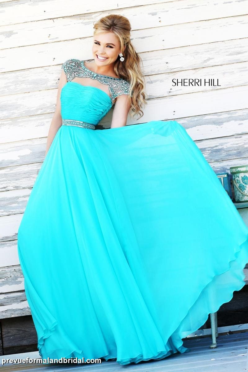 Sherri Hill prom dress. Tiffany blue prom dress. Sky blue prom dress. Prom