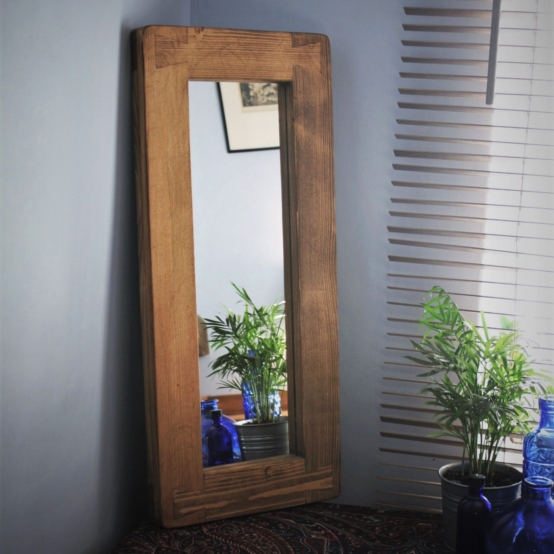 Pin On Natural Wooden Framed Mirrors Handmade Rustic Simplicity From Somerset Uk