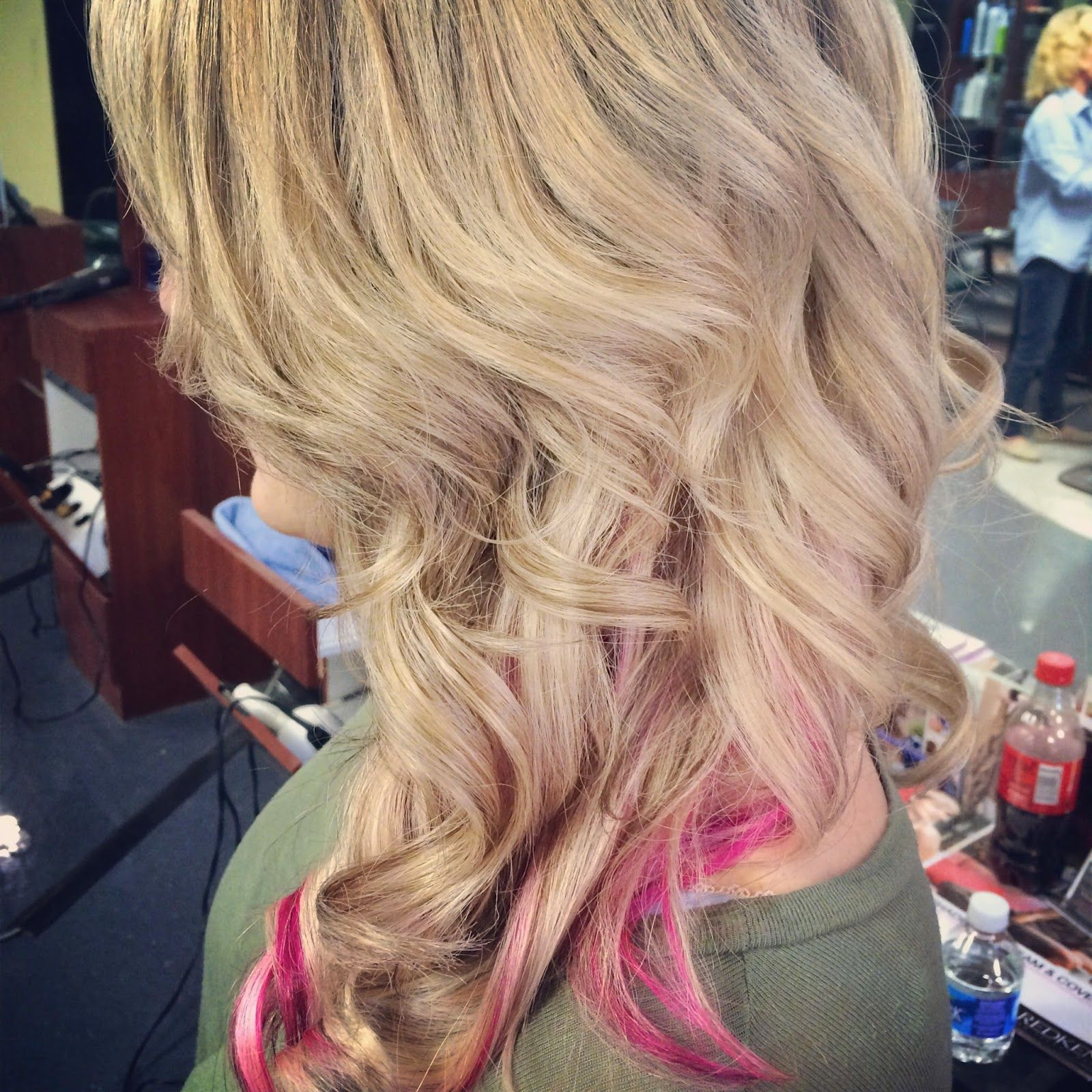 Add A Little Sass With Pink Peek A Boo Highlights In Your Blonde