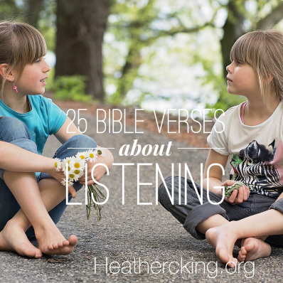Bible verse about listening