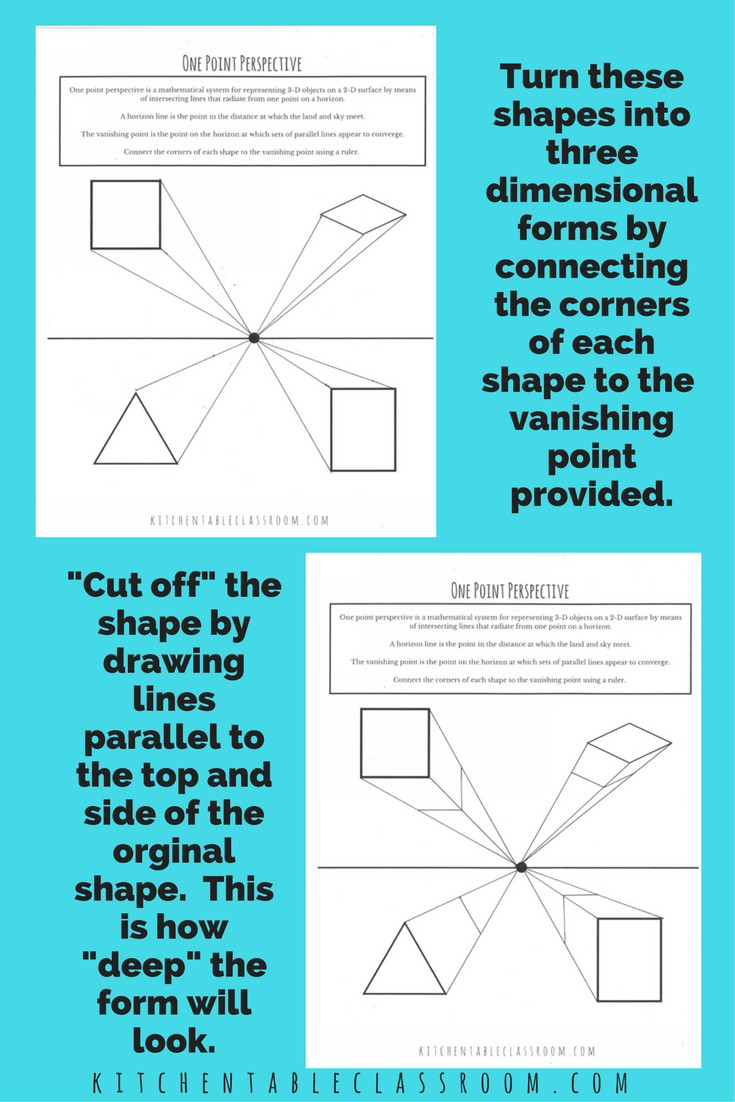 One Point Perspective - an Introduction & a Printable | Kids s ...