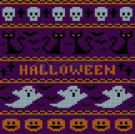 2/2 Halloween Fair Isle Chart | Fair Isle Knitting Patterns ...