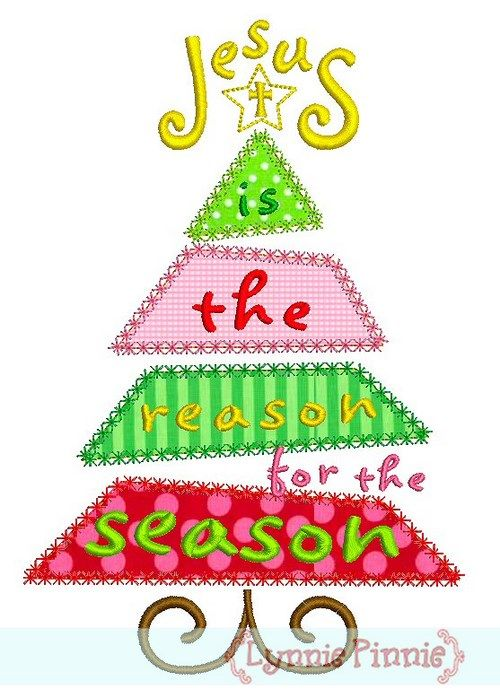 Embroidery Designs - Jesus is the Reason for the Season Christmas ...