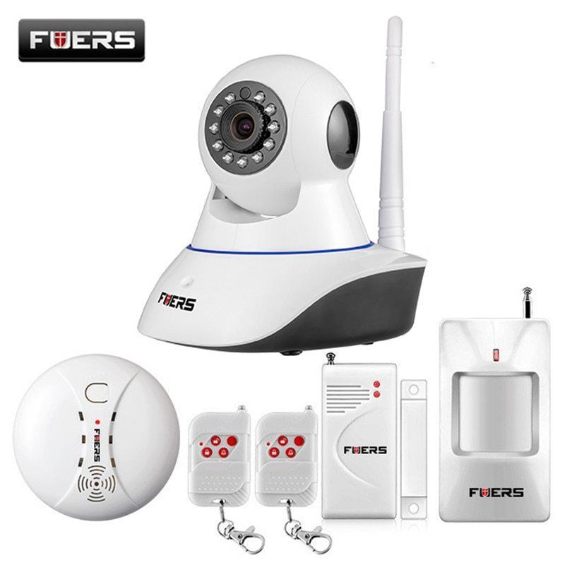 Fuers Wifi Ip Camera Home Burglar Security Smoke Fire Detector Alarm Ebay Link App Remote Fire Detectors Ip Camera