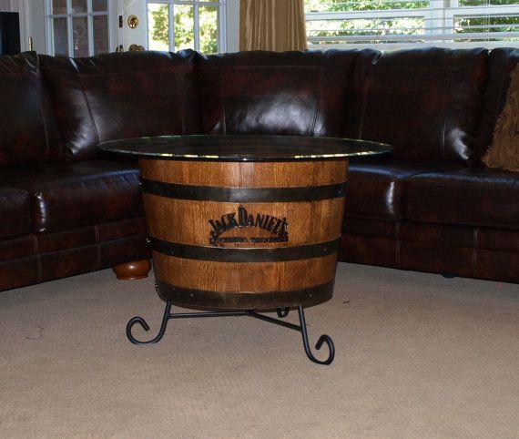 Bourbon Barrel Coffee Table by BluegrassBourbonBarr on Etsy Happy