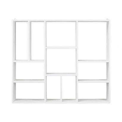 Wandregal Beatrix - Kiefer massiv - Weiß