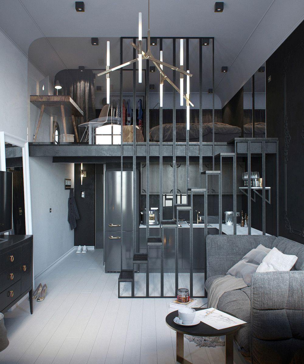 Assez Aménager un appartement de 30 m² - Un clair et un sombre | Mètre  PK91