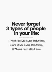 Difficult times: they helped you, they left you, and who put ...