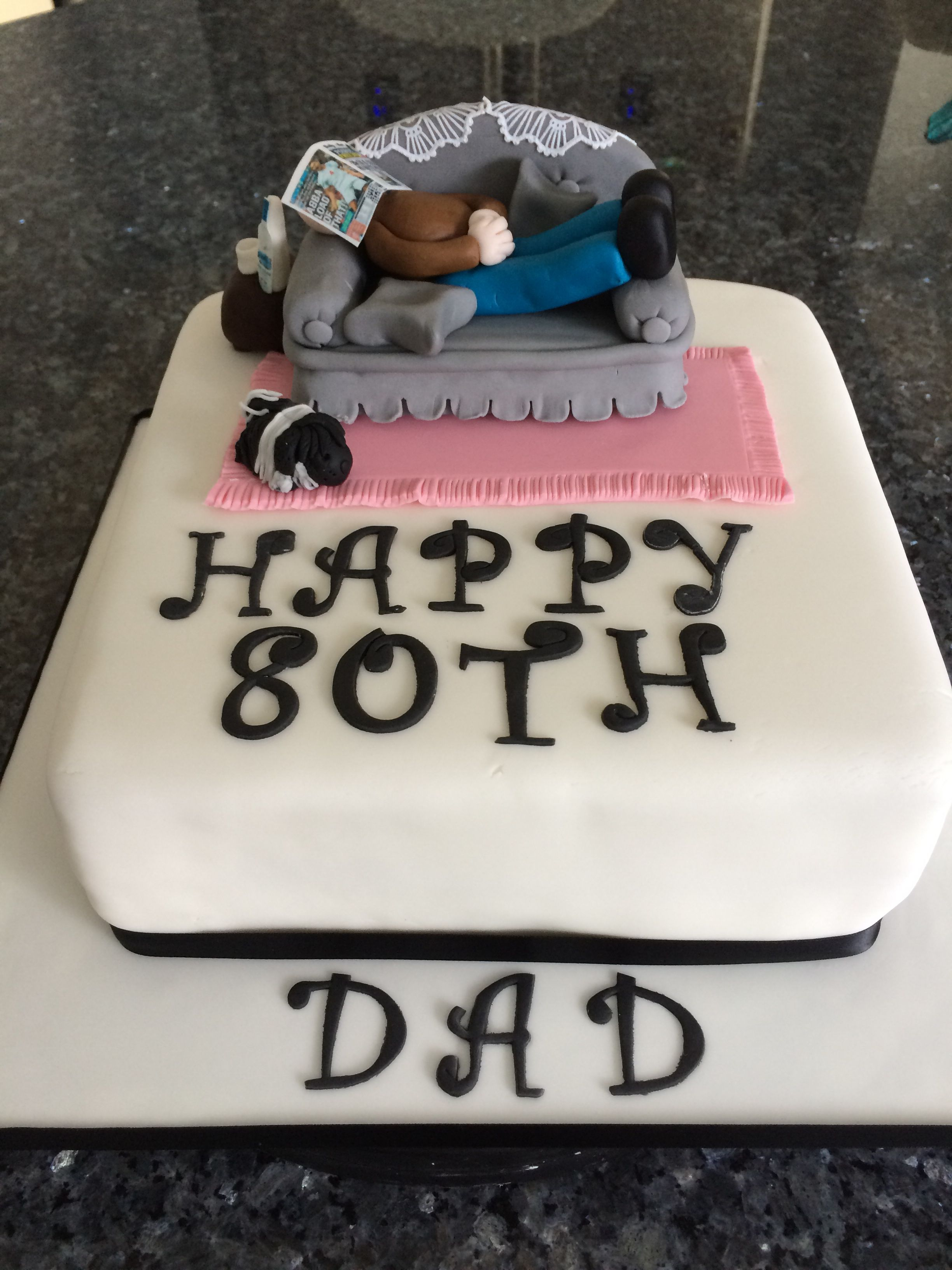 See More Party And Birthday Cake Ideas At 80th Bbirthday