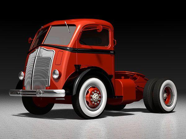 Streamlined Tractor Truck (1938) | Designer: Alexis De ...
