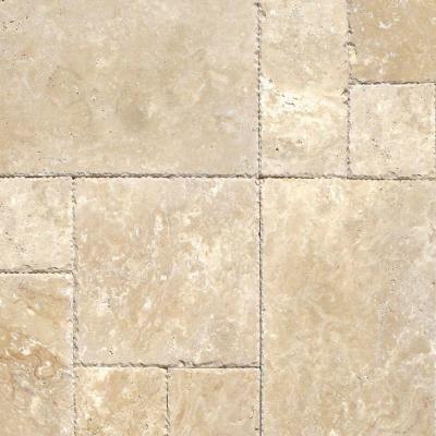 Msi Beige Pattern Honed Unfilled Chipped Travertine Floor And Wall Tile 1 Kit 8 Sq Ft Case Thdbeg Pat Hufc The Home Depot Travertine Floors Travertine Travertine Tile
