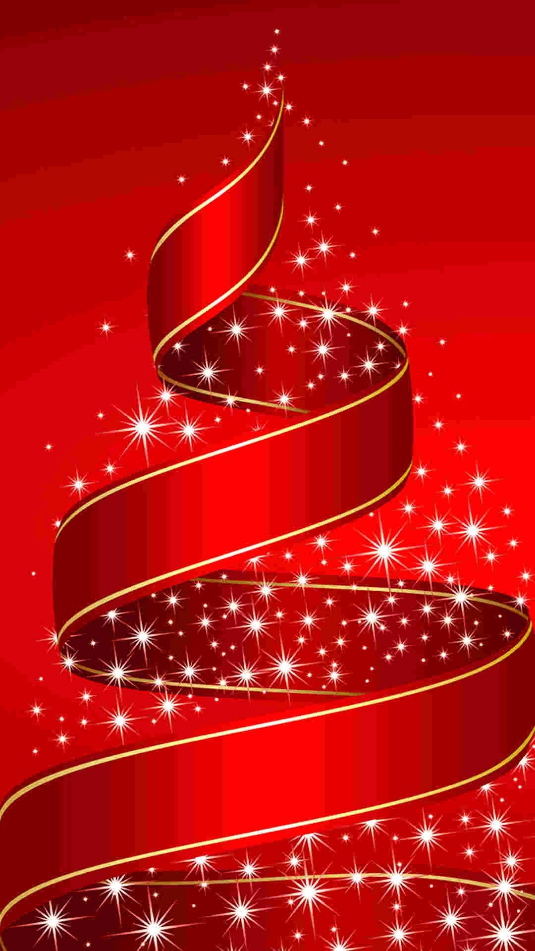 Red Ribbon Christmas Tree IPhone 6 Plus Wallpaper