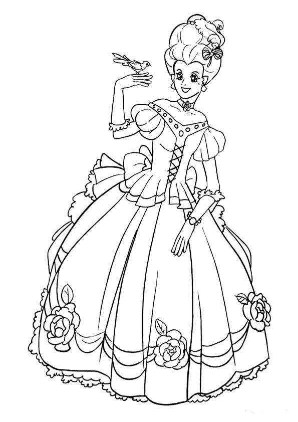 Malvorlagen Prinzessin 17   Malvorlagen Gratis   Принцесса ...