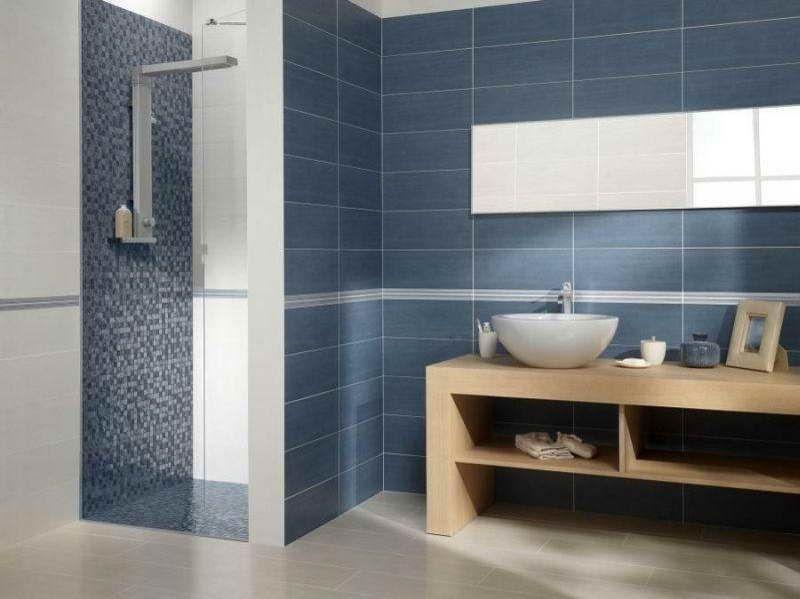 Contemporary Bathroom Tile Design Ideas With Blue Color  Bathroom Impressive Modern Bathroom Tiles Design Design Decoration