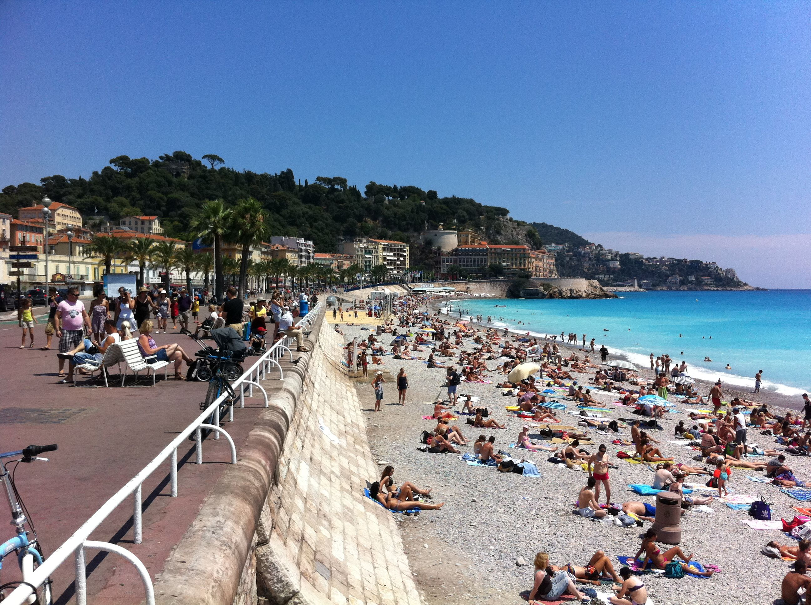 Nice France Beach Where We Spent A Lovely Afternoon Tanning And Swimming All Those Baguettes Though